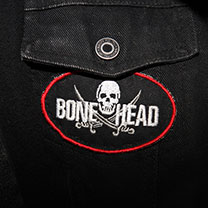 EMBROIDERED BONE HEAD PATCH
