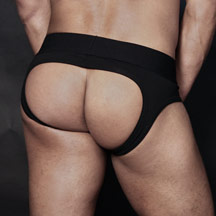 ASSLESS JOCK-BRIEF - TIM-GEAR Black