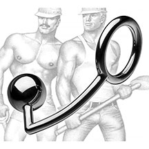 TOF Steel Cockring with Anal Ball
